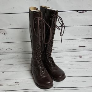 Dansko lace up leather boots sz 36 brown